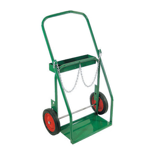 80 to 150 Cu.Ft. Oxygen & 75 Cu.Ft. (No.3) Acetylene Cylinder Cart - Low Rail Frame