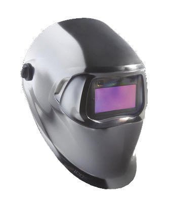 3M™ Speedglas™ Chrome Welding Helmet 100 with Auto-Darkening Filter 100V Shades 8-12