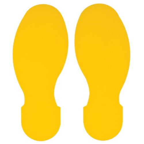 Floor Footprints - Yellow ToughStripe™ Polyester