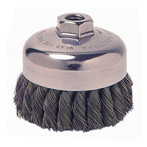 Weiler® Vortec Pro® Knot Wire Cup Brushes Carbon Steel