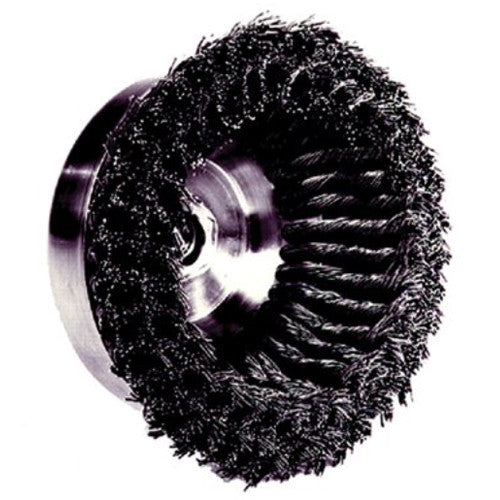 Weiler® 12756 Knot Wire Cup Brushes - Double Row
