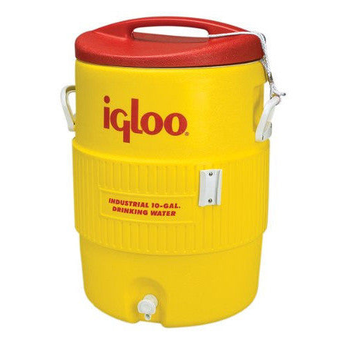 10-Gallon Safety Yellow & Red Industrial Water Cooler
