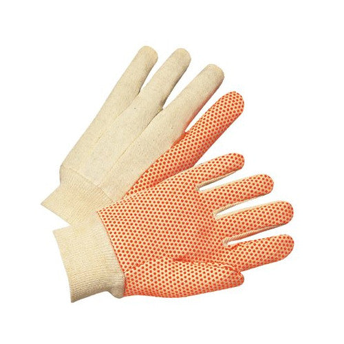 Dotted Canvas Gloves