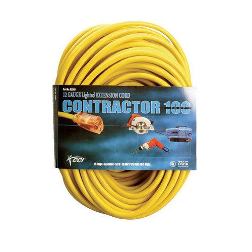 Vinyl Outdoor Extension Cords