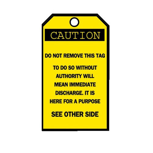 Blank Accident Prevention Tags