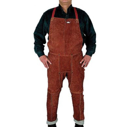 Anchor - Split Leg Bib Apron - Leather