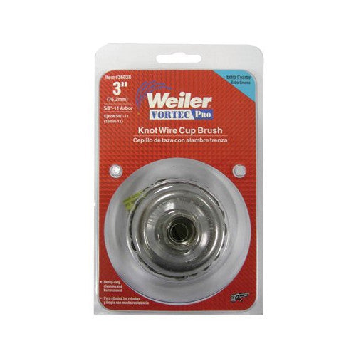 Weiler® Vortec Pro® Knot Wire Cup Brushes 3
