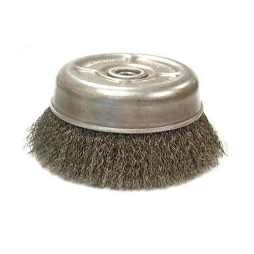 Crimped Wire Cup Brush UCX3 5/8-11 Stainless