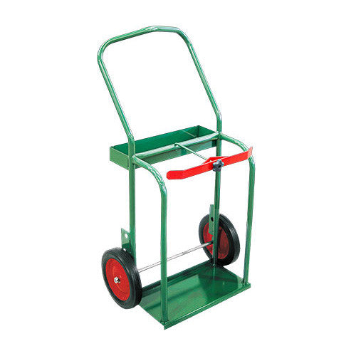 80 to 150 Cu.Ft. Oxygen & 75 Cu.Ft. (No.3) Acetylene Cylinder Cart - High Rail Frame
