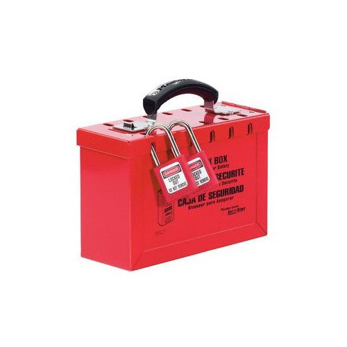 498A - Portable Red Group Lock Box - Latch Tight™