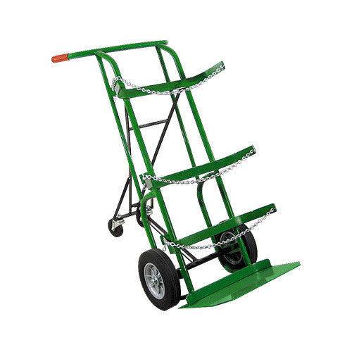 Heavy-Duty Dual Cylinder Delivery Cart With Foldable Rear Assembly