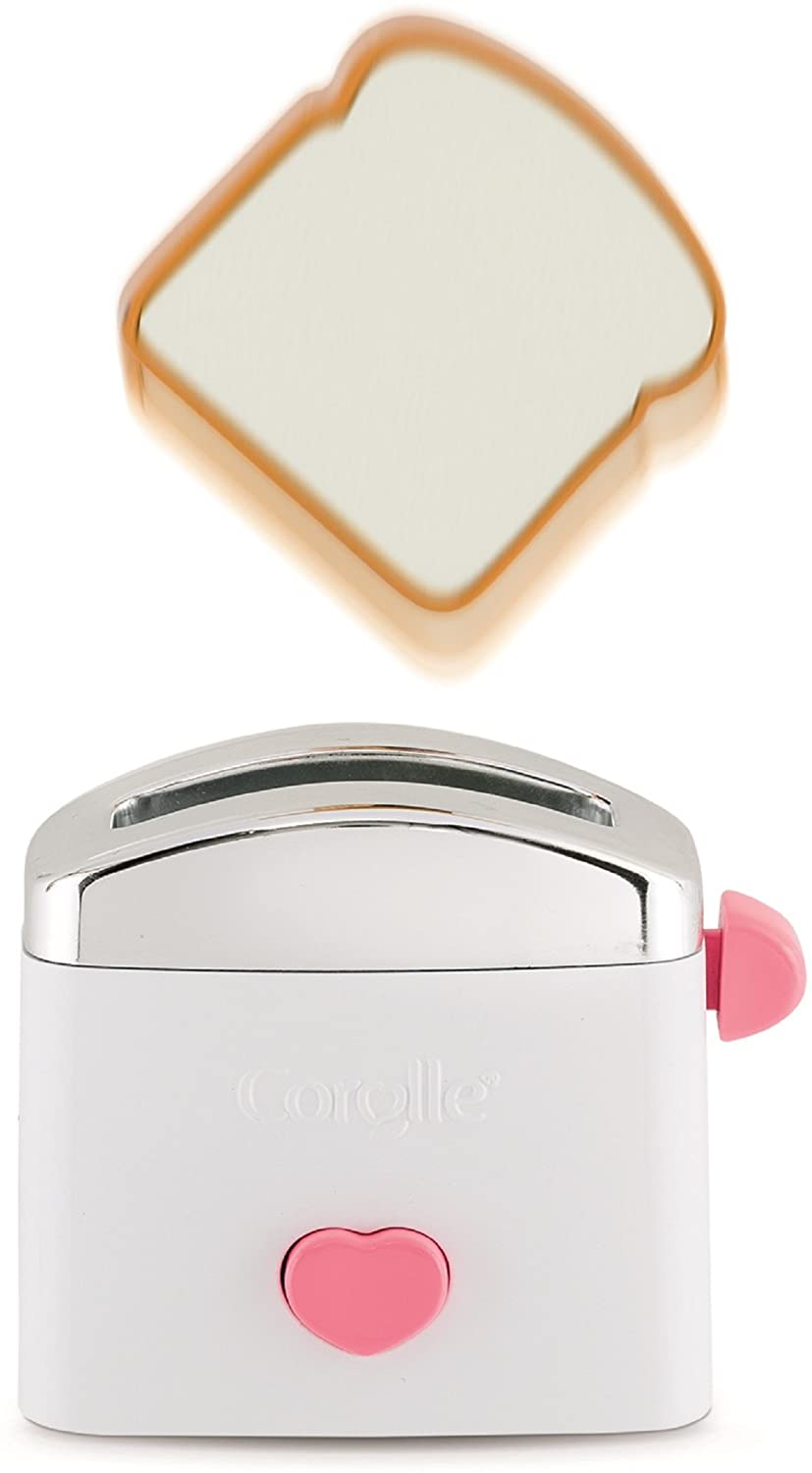 Corolle Mon Grand Poupon Toaster & Toast Set Toy Baby Doll