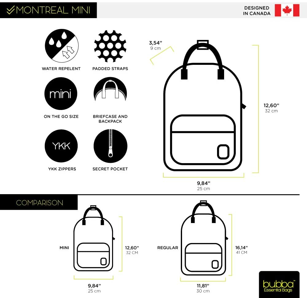 Bubba Bags Canadian Design Backpack Montreal Mini