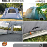 NTK Arizona GT 7 to 8 Person 14 by 8 Foot Sport Camping Tent 100% Waterproof 2500mm Family Tent
