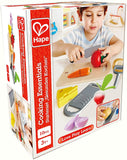 Hape Cooking Essentials Toy | Play Food Cutting Vegetables Set for Kids, Wooden Food Kitchen Accessory Toys