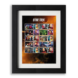 Star Trek Framed Captain's Collector Stamps Sheet