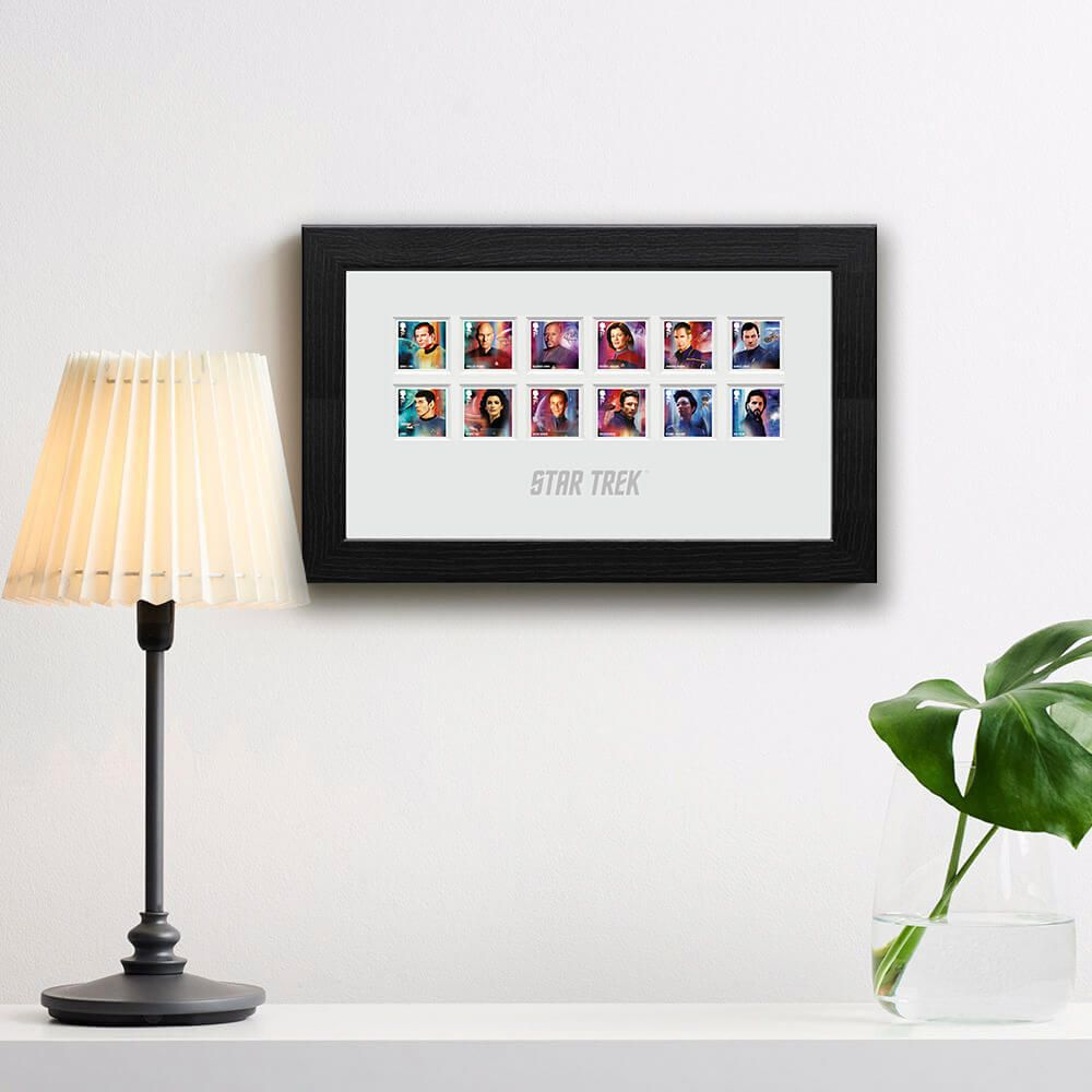 Star Trek Captains and Crew Members Framed Stamps