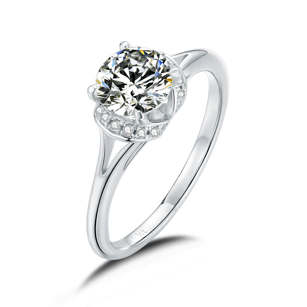 Moonglade Blooming Moissanite Ring