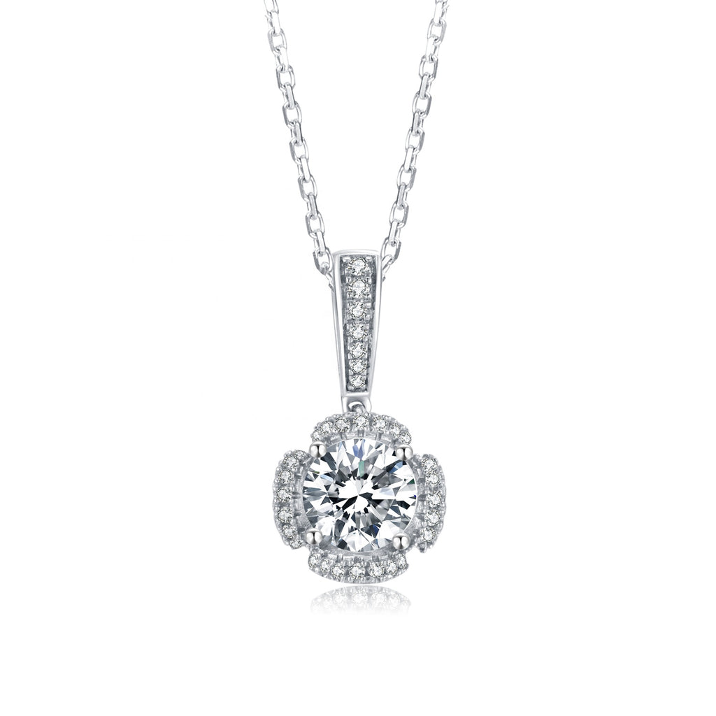 Moonglade Statement Round 1ct Moissanite Necklace