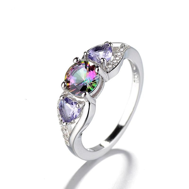 Moonglade The Cosmos Rainbow Topaz Sterling Silver Ring