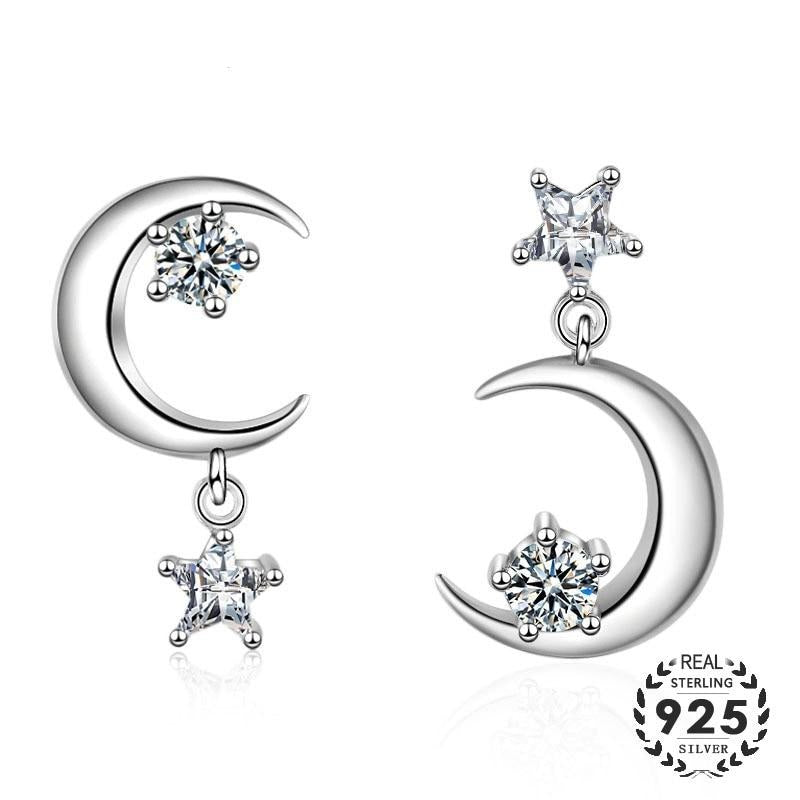 Moonglade Classic Estrella Luna Sterling Silver Stud Earrings