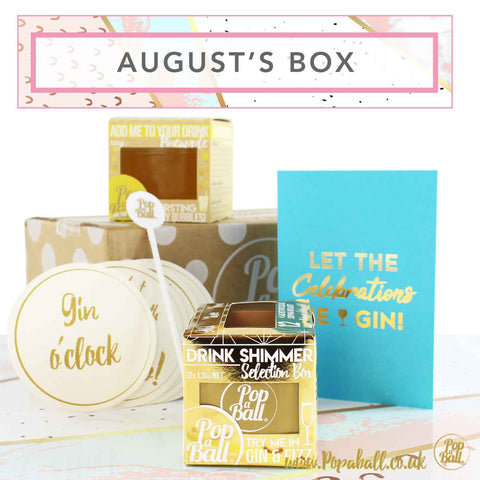 Augusts subscription box with shimmer selection box and shimmer card