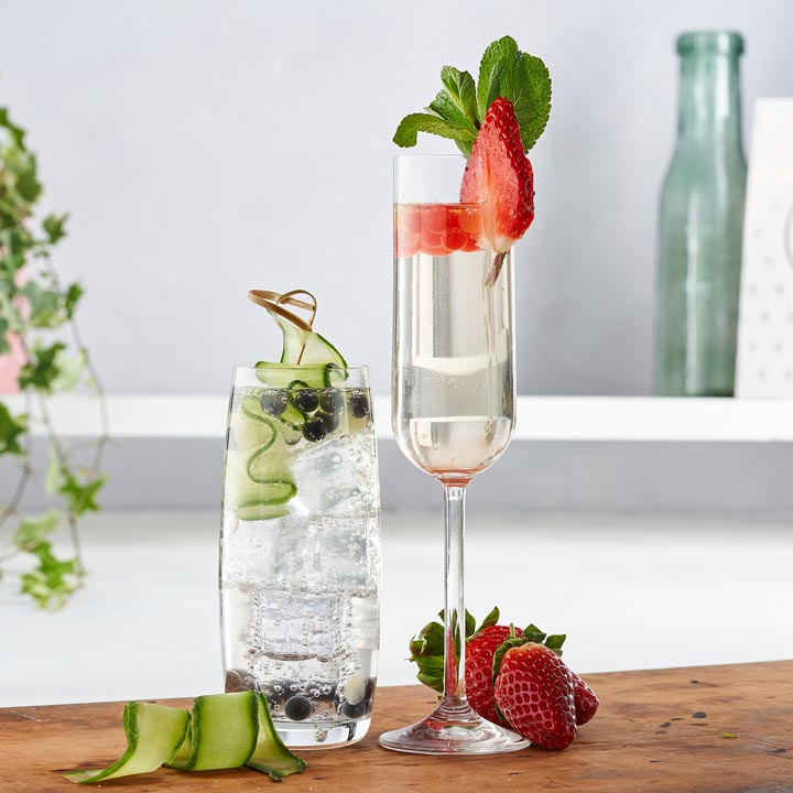 bursting bubbles for prosecco, vodka & gin