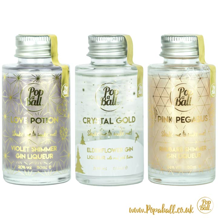 Drink Shimmer with Bubbles for Gin and G&T Gift Set