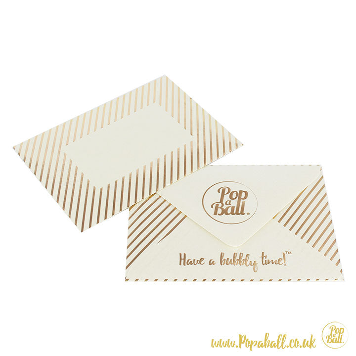 Set of 10 Popaball Christmas Card with Gold Shimmer Sachet