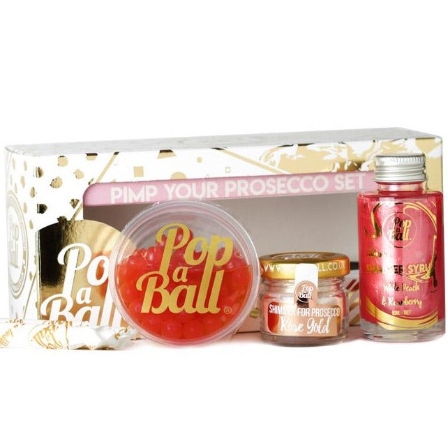 Pimp your prosecco gift box with busrsting bubbles, shimmer and syrup