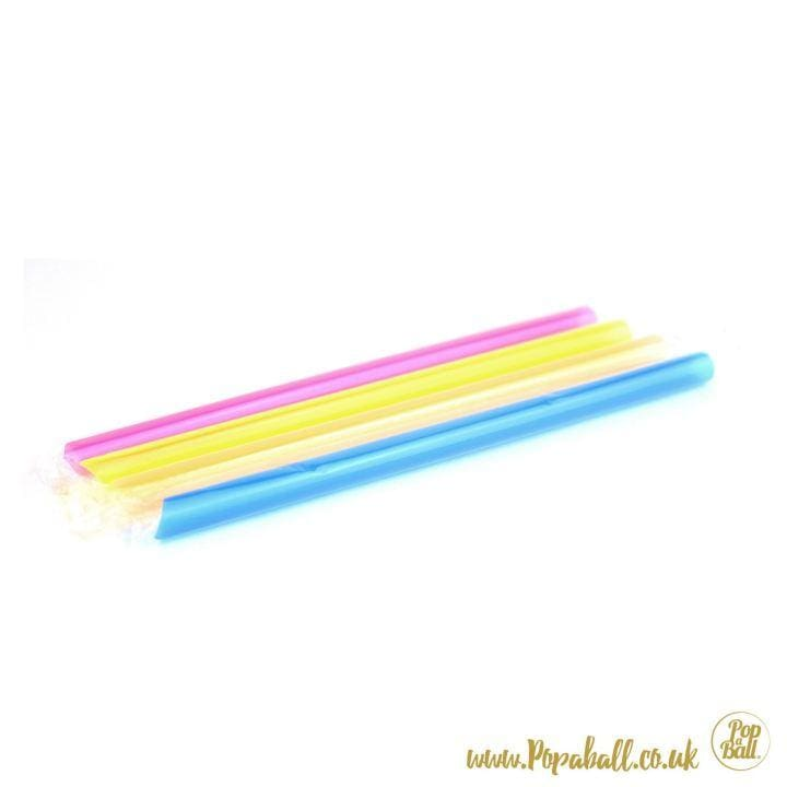 A Mix Of 4 Chunky Colourful Popaball Straws