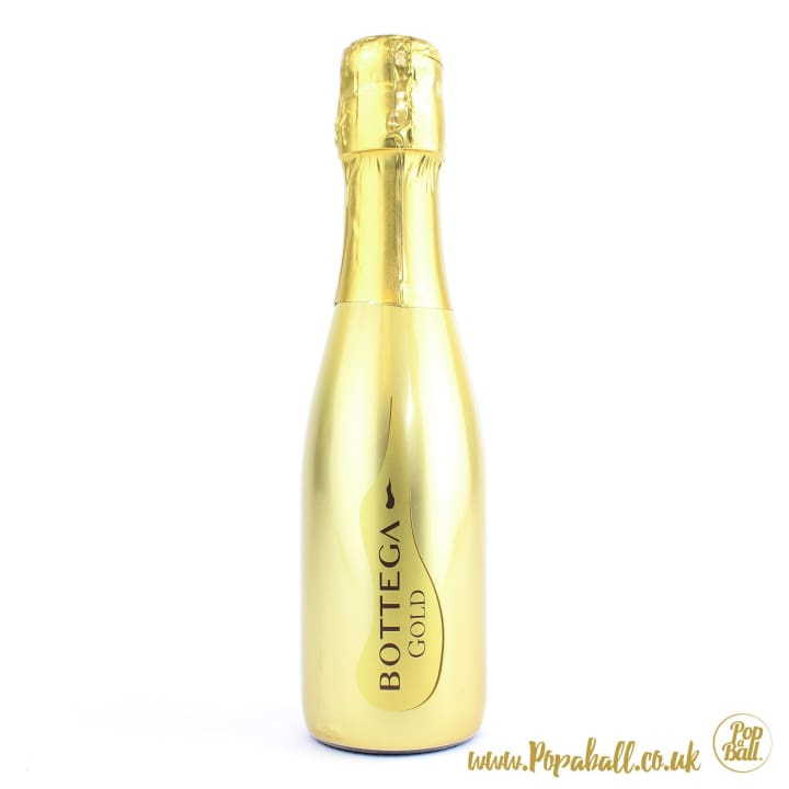 Bottega Gold Prosecco With Popaball Bubbles For Prosecco Gift