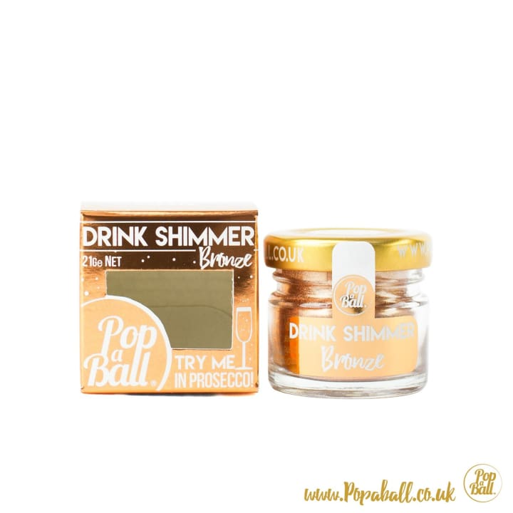 Bronze Drink Shimmer - Bursting Bubbles