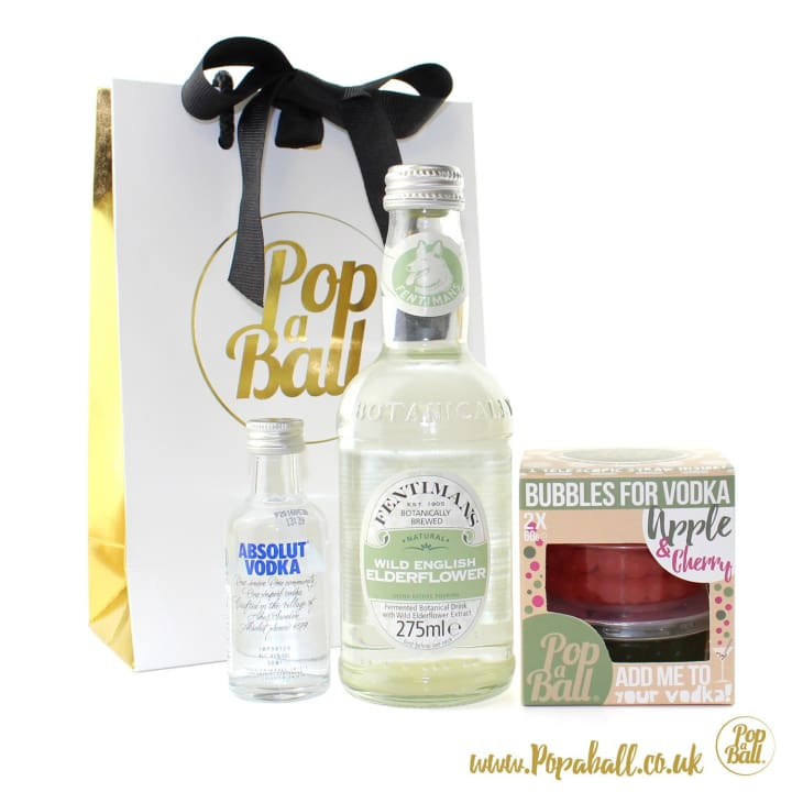 Bubbles For Vodka With Vodka And Mixer Gift Set - Spirits