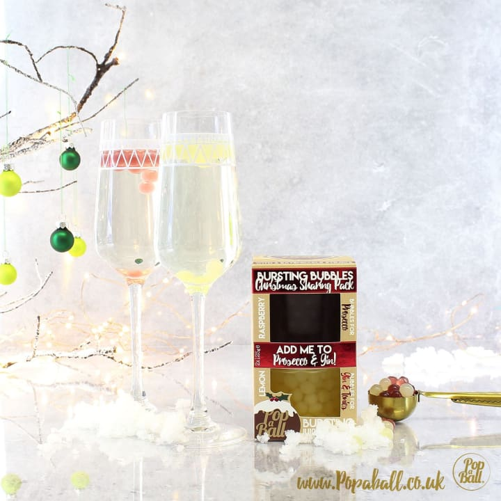 Christmas Sharing Pack For Prosecco And Gin - Bursting Bubbles