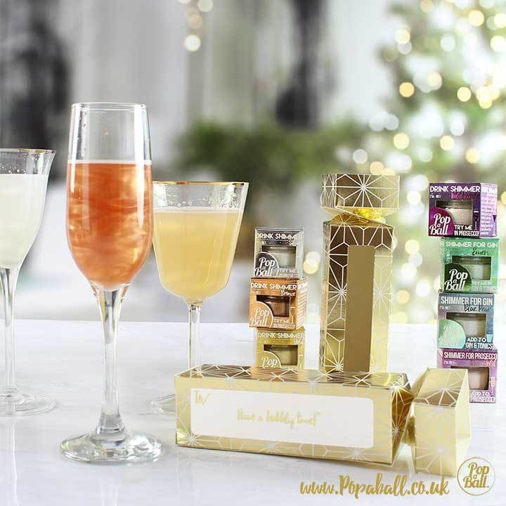 Drink Shimmer Selection Cracker Gift Box - Bursting Bubbles