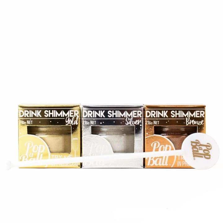 Flavourless Shimmer Trio Set With Free Stirrer - Bursting Bubbles