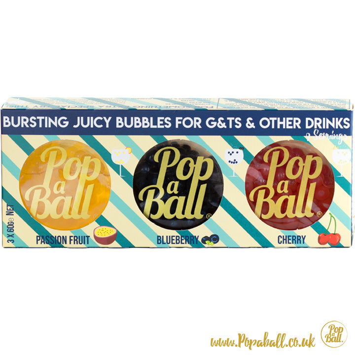 gin trio bubbles popaball