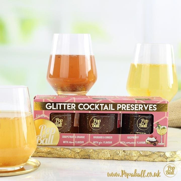Glitter Cocktail Preserves Selection Box - Bursting Bubbles