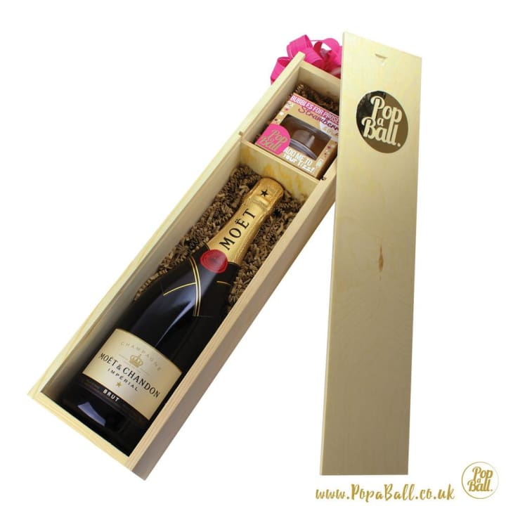 Large Fizz Luxury Wooden Gift Box With Bubbles For Prosecco - Fizz