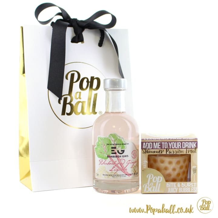 Large Pimp Your Gin Gift Set With Shimmer Bubbles - Gin And Bubbles