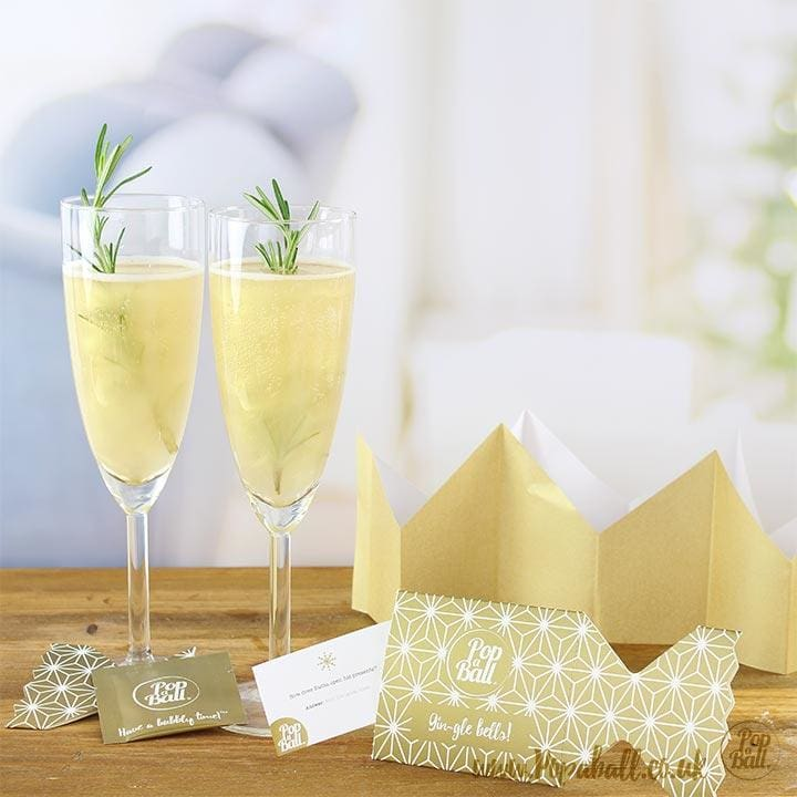 New! 12 Popaball Shimmer Christmas Crackers - Bursting Bubbles