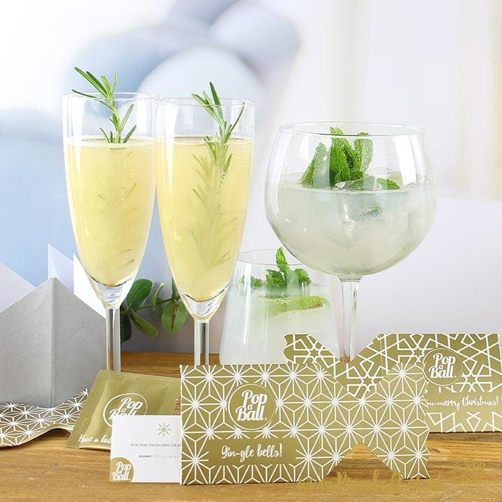 New! 6 Popaball Shimmer Christmas Crackers - Bursting Bubbles
