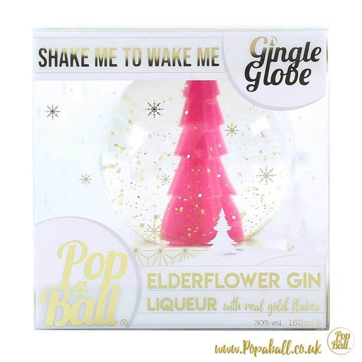 Gin Liqueur Snow Globe with 23ct gold flakes