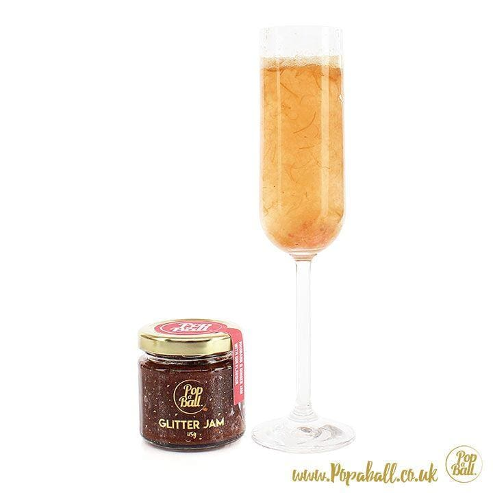 New! Rhubarb And Ginger Glitter Jam With Gin Flavour - Bursting Bubbles