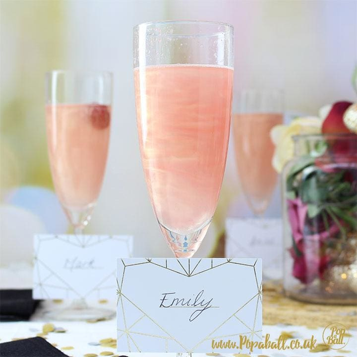 New! Shimmer For Prosecco Place Cards