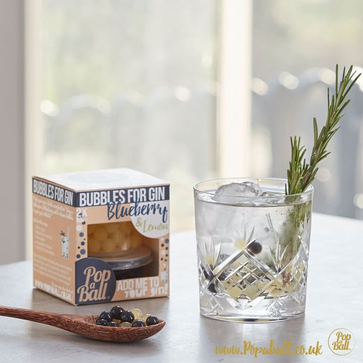 Pimp Your Gin With Bubbles For Gin Wood Box Gift Set - Gin And Bubbles