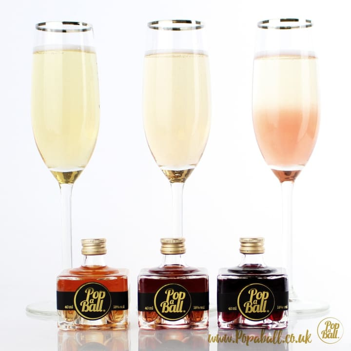 Popaball Liqueurs Stack With Bubbles And Shimmer Gift Set - Fizz