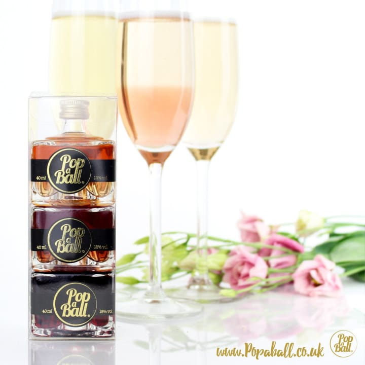 Popaball Liqueurs Stack With Bubbles For Prosecco And Shimmer Gift Set - Fizz