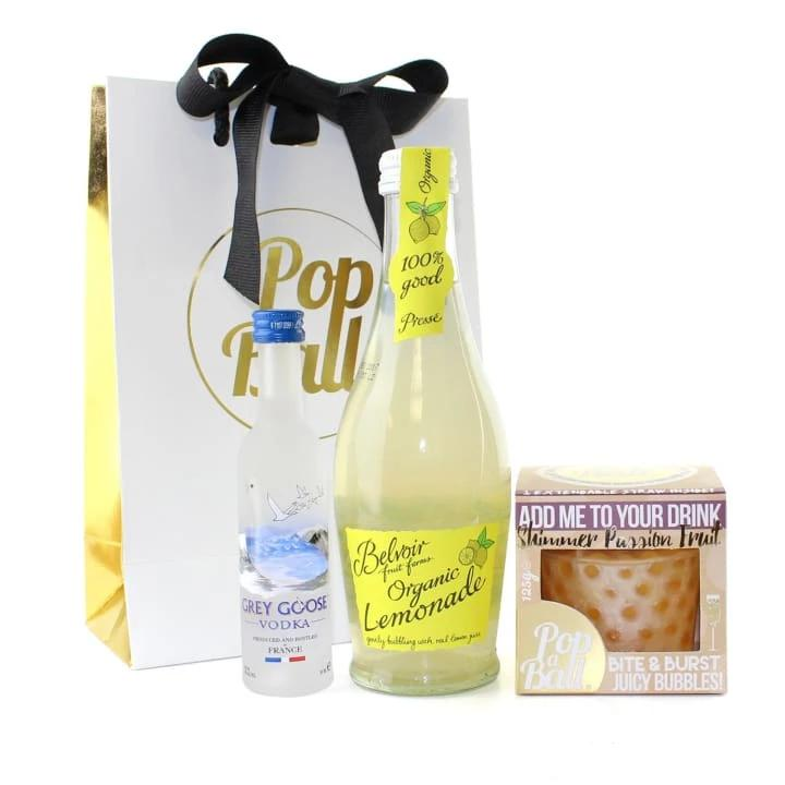 Shimmer Bubbles With Vodka And Mixer Gift Set - Spirits